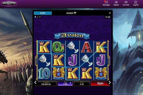 JAckpot City Avalon slot game