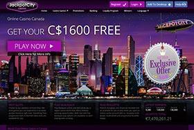 Jackpot City Canada Homepage