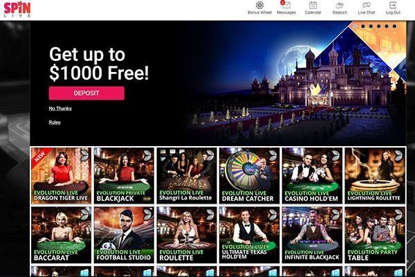Spin Casino Canada Live Casino
