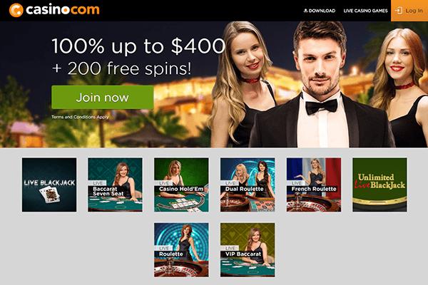casino com live dealer