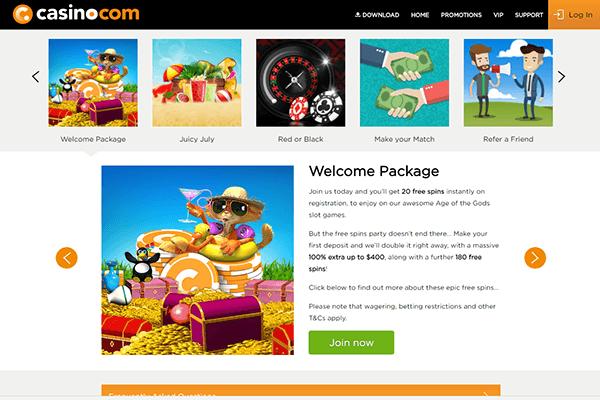 casino com welcome bonus