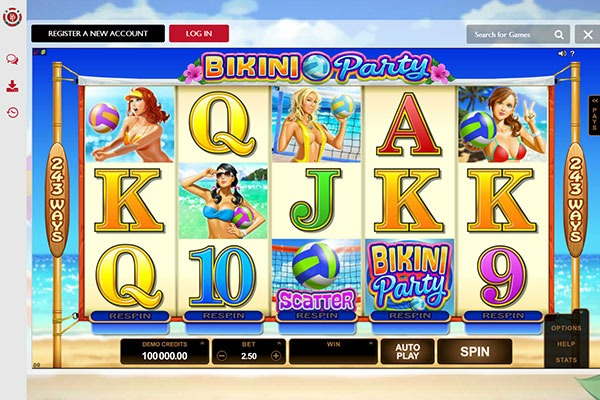 Platinum Play Canada bikini party slot game