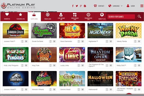 Platinum Play Canada casino games