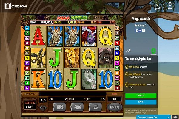 Casino Room Mega Moolah