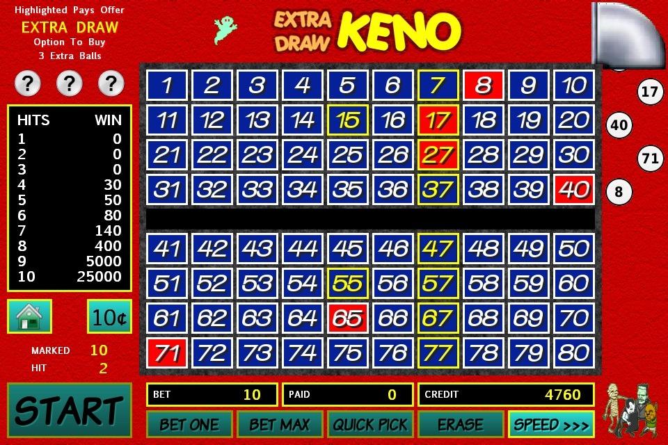 Keno Board