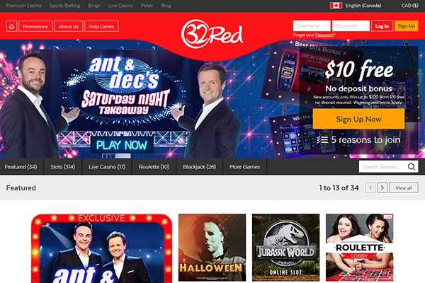 32 Red Casino Canada Home