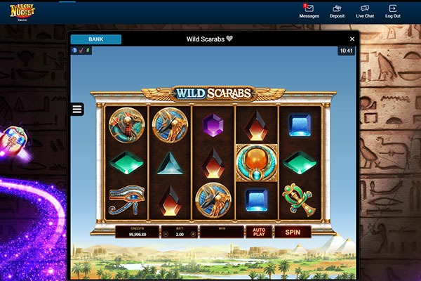 Lucky Nugget Wild Scarabs slot game