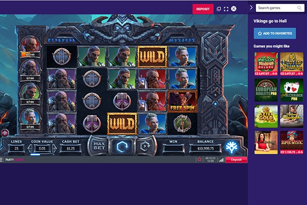 Party Casino Vikings go to Hell slot game