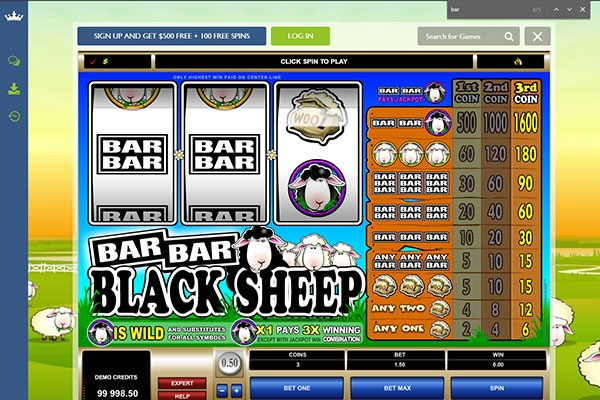 Euro Plaace Bar Bar Black Sheep slot game