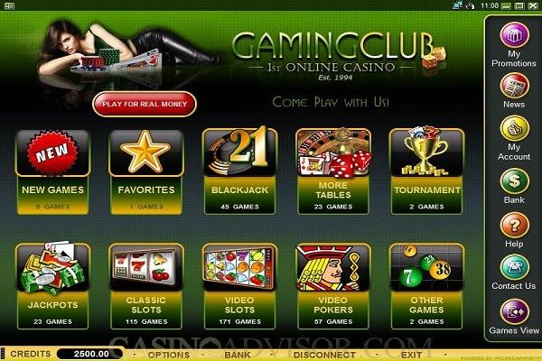 Gaming club casino games