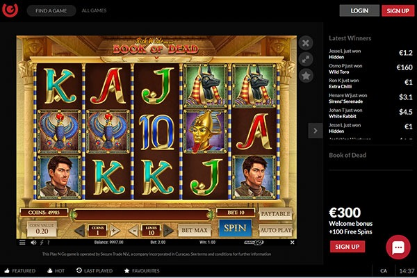 Guts Casino slot games