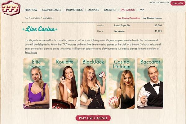 777 Casino Canada Live Dealer