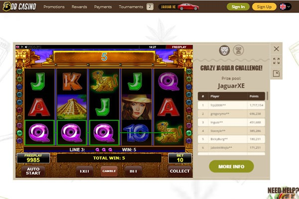 Bob Casino Book of Aztec slot game