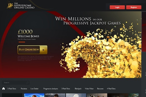 Hippodrome CAsino Online home