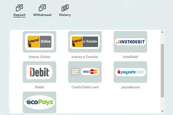 Casumo CAD banking