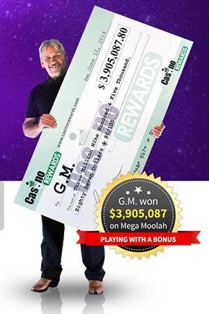 Zodiac Casino Mega Moolah winner