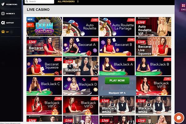 Playamo Casino Live Dealer