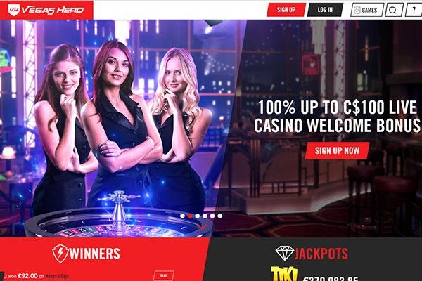 Vegas Hero Live Dealer bonus
