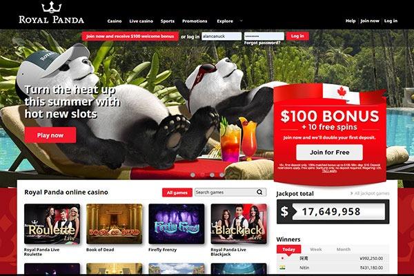 Royal Panda Home page