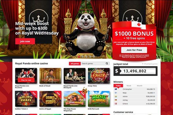 royal panda $1000 welcome bonus
