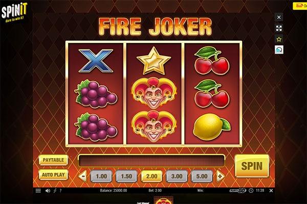 Spinit Fire Joker free spins