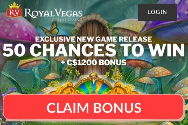 Royal Vegas Mega Moolah bonus offer