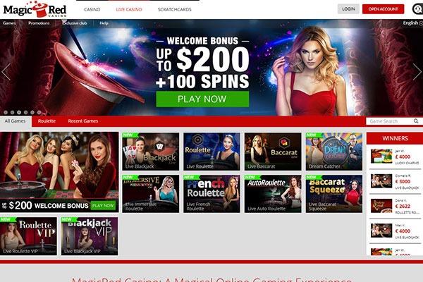 MagicRed live casino