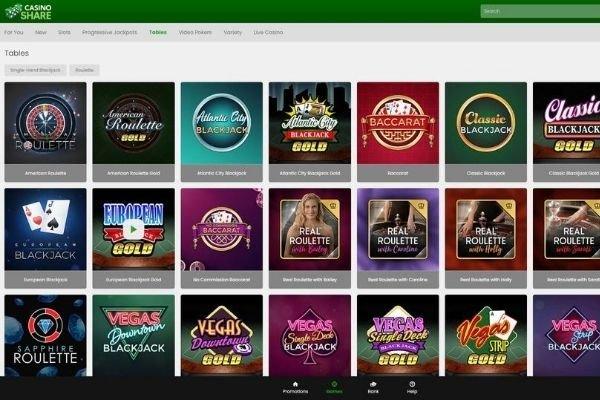 Casino Share homepage