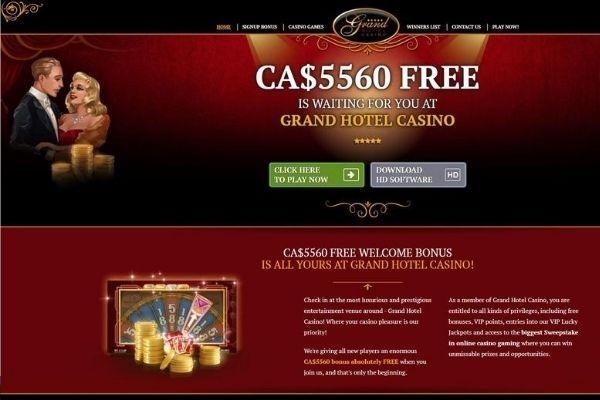 grand hotel casino homepage