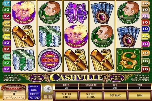 music hall casino cashville slots