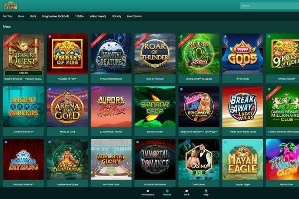 nostalgia casino game lobby