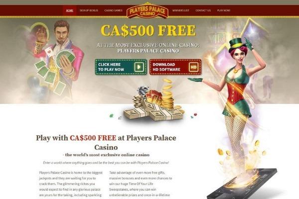players palace casino homepage