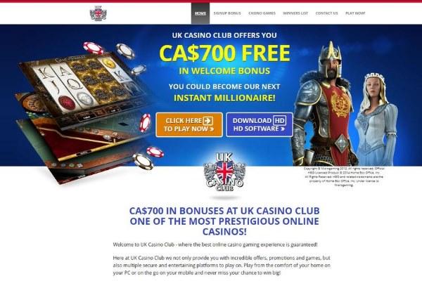 uk casino club homepage