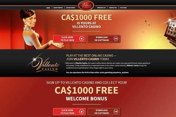 villento casino homepage