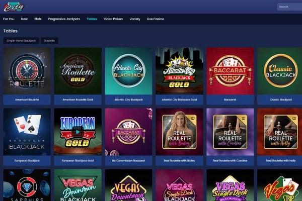 virtual city casino tables