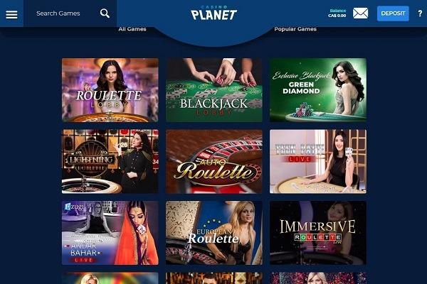 casino planet live dealer