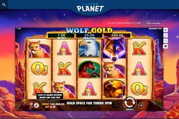 casino planet slots wolf gold