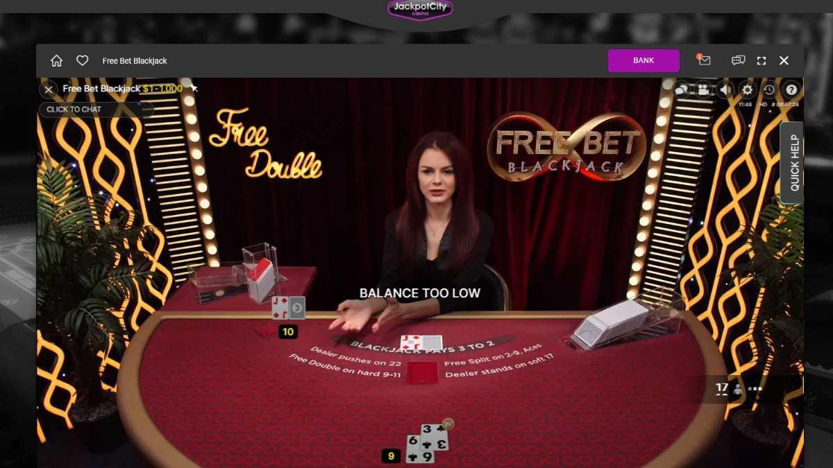 live blackjack jackpot city