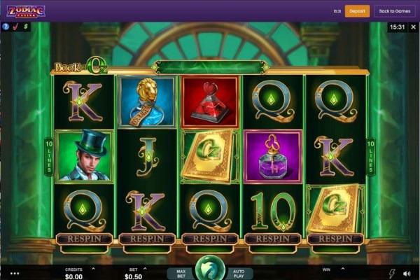 zodia casino book of oz slots