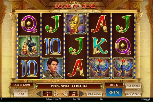 Book of Dead slots by Play N Go Gaming