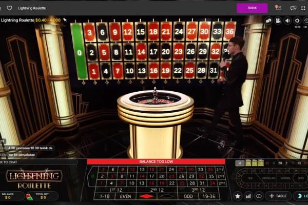 Evolution Gaming Casino's live lightning roulette at jackpot city