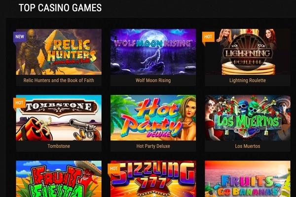 king billy casino gaming lobby