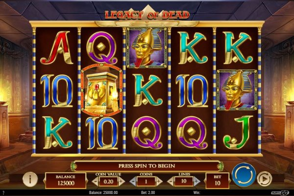 Legacy of Dead slot by Play N Go Gaming