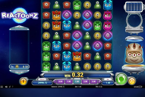Reactoonz Slot screenshot by Play N Go Casino Gaming