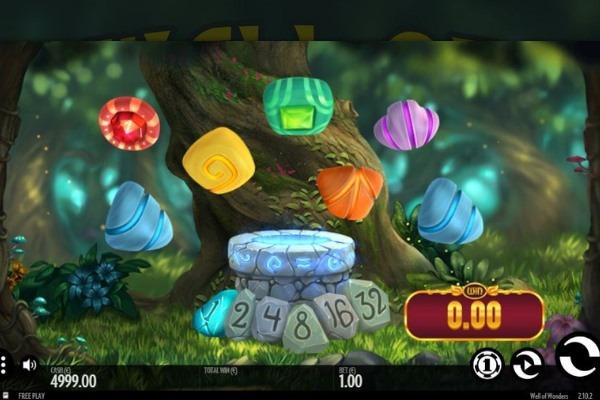 screenshot of thunderkick slot well of wonders