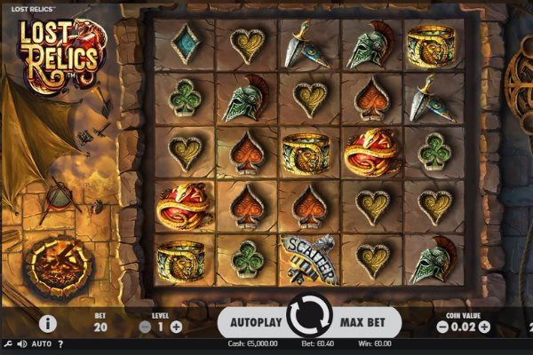 lost relics slot by Netent Gaming