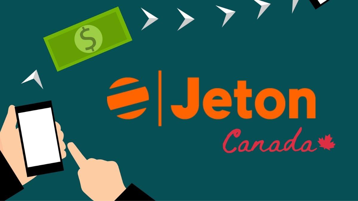 Jeton Canada logo on dark green background