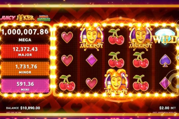 juicy joker mega moolah slot by microgaming