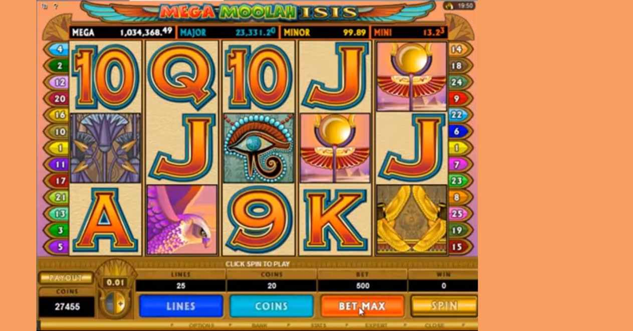 mega moolah isis slot by microgaming